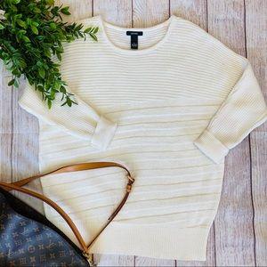 Alfani Ribbed Knit Long Sleeve Sweater